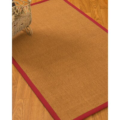 Kemmer Border Hand-Woven Brown/Red Area Rug Rug Size: Rectangle 2 x 3