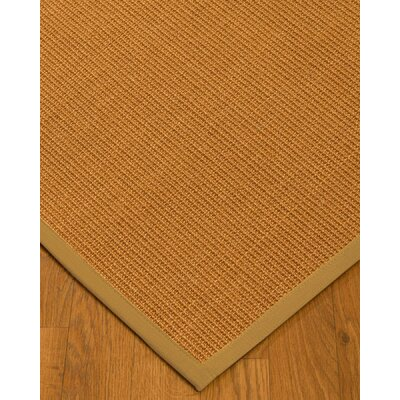 Kemmerer Border Hand-Woven Brown/Sage Area Rug Rug Size: Rectangle 8 x 10