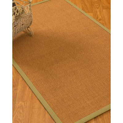 Kemper Border Hand-Woven Brown/Olive Area Rug Rug Size: Rectangle 4 x 6