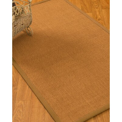 Kempf Border Hand-Woven Brown Area Rug Rug Size: Rectangle 8 x 10