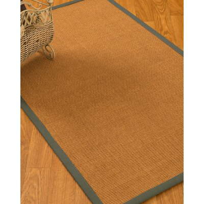 Kempton Border Hand-Woven Brown/Olive Area Rug Rug Size: Rectangle 6 x 9