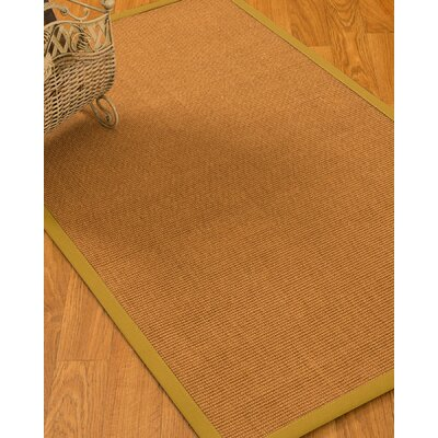 Kendari Border Hand-Woven Brown Area Rug Rug Size: Rectangle 4 x 6