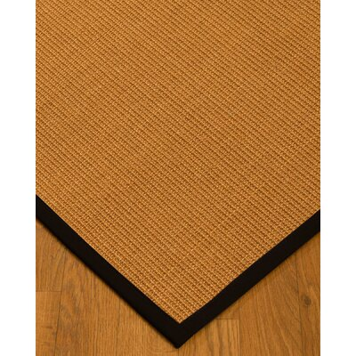 Keough Border Hand-Woven Brown/Black Area Rug