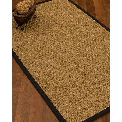 Antiqua Border Hand-Woven Beige/Black Area Rug Rug Size: Rectangle 5 x 8, Rug Pad Included: Yes
