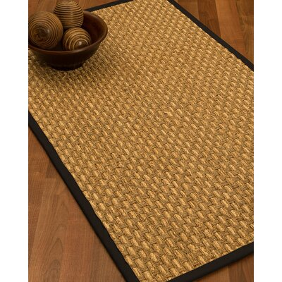 Castiglia Border Hand-Woven Beige/Black Area Rug Rug Size: Rectangle 6 x 9, Rug Pad Included: Yes