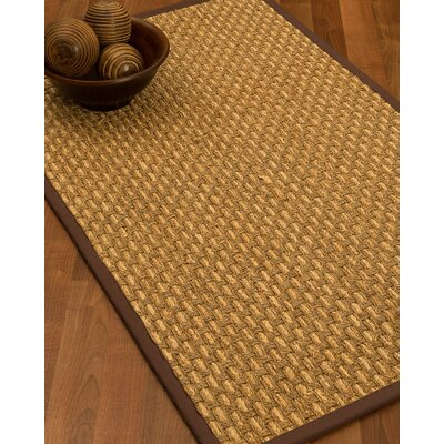 Castiglia Border Hand-Woven Beige/Brown Area Rug Rug Size: Rectangle 5 x 8, Rug Pad Included: Yes