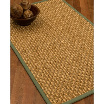 Castiglia Border Hand-Woven Beige/Slate Area Rug Rug Size: Runner 26 x 8, Rug Pad Included: No