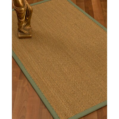 Mahaney Border Hand-Woven Beige Area Rug Rug Size: Runner 26 x 8, Rug Pad Included: No