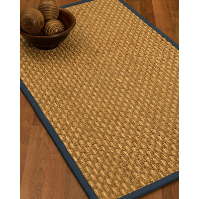 Castiglia Border Hand-Woven Beige/Marine Area Rug Rug Size: Runner 26 x 8, Rug Pad Included: No