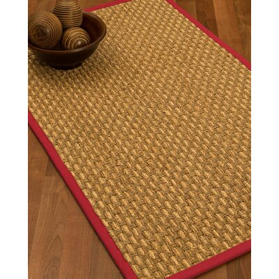 Castiglia Border Hand-Woven Beige/Red Area Rug Rug Size: Rectangle 5 x 8, Rug Pad Included: Yes