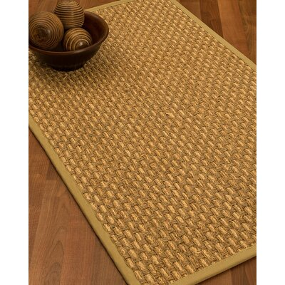 Castiglia Border Hand-Woven Beige Area Rug Rug Size: Runner 26 x 8, Rug Pad Included: No