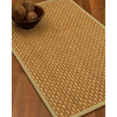 Castiglia Border Hand-Woven Beige/Sand Area Rug Rug Size: Rectangle 12 x 15, Rug Pad Included: Yes