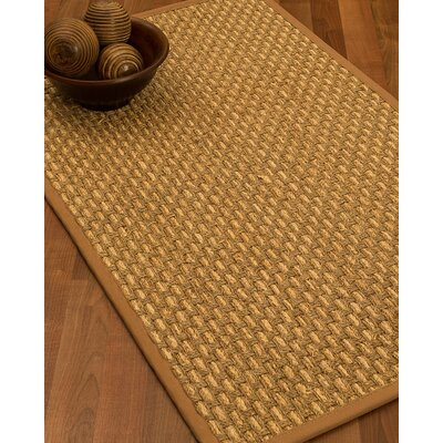 Castiglia Border Hand-Woven Beige/Sienna Area Rug Rug Size: Runner 26 x 8, Rug Pad Included: No