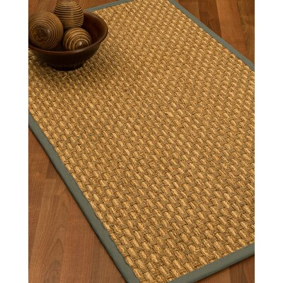 Castiglia Border Hand-Woven Beige/Stone Area Rug Rug Size: Runner 26 x 8, Rug Pad Included: No
