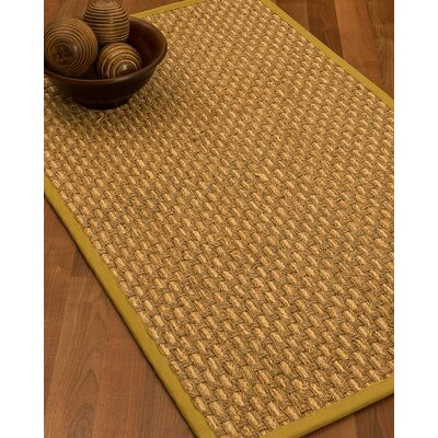 Castiglia Border Hand-Woven Beige/Tan Area Rug Rug Size: Rectangle 5 x 8, Rug Pad Included: Yes