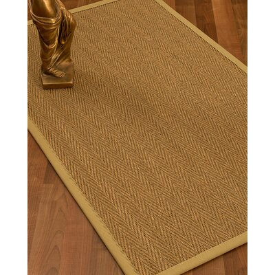 Mahaney Border Hand-Woven Beige Area Rug Rug Size: Rectangle 12 x 15, Rug Pad Included: Yes