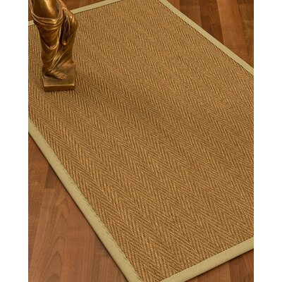Mahaney Border Hand-Woven Beige/Sand Area Rug Rug Size: Rectangle 12 x 15, Rug Pad Included: Yes