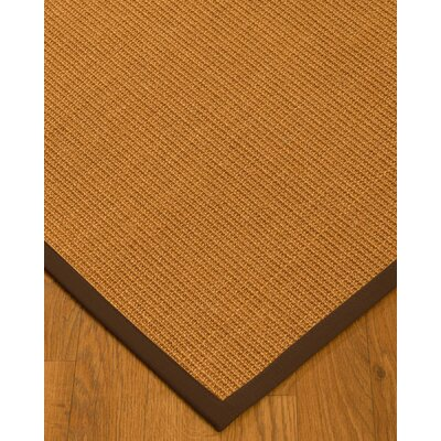 Kennamer Border Hand-Woven Brown Area Rug Rug Size: Rectangle 9 x 12, Rug Pad Included: Yes