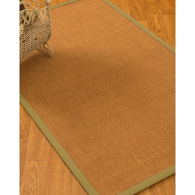 Delaware Border Hand-Woven Beige/Khaki Area Rug Rug Size: Rectangle 6 x 9