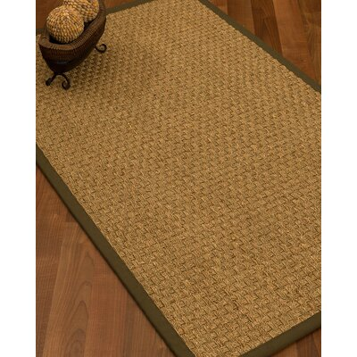 Antiqua Border Hand-Woven Beige/Malt Area Rug Rug Size: Rectangle 5 x 8, Rug Pad Included: Yes