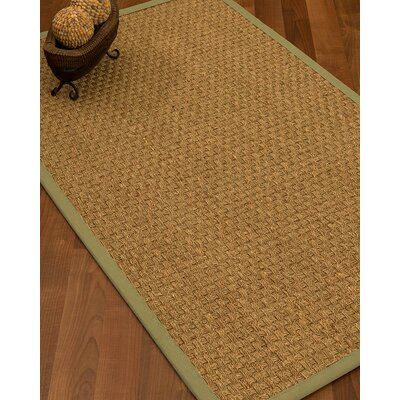 Antiqua Border Hand-Woven Beige/Natural Area Rug Rug Size: Rectangle 9 x 12, Rug Pad Included: Yes