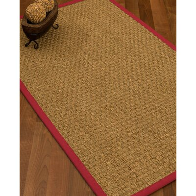 Antiqua Border Hand-Woven Beige/Red Area Rug Rug Size: Rectangle 4 x 6, Rug Pad Included: Yes