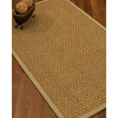 Antiqua Border Hand-Woven Beige/Sand Area Rug Rug Size: Rectangle 5 x 8, Rug Pad Included: Yes
