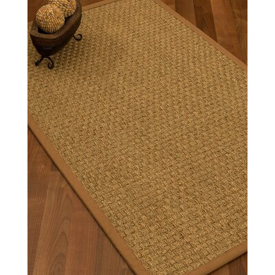 Antiqua Border Hand-Woven Beige/Sienna Area Rug Rug Size: Rectangle 5 x 8, Rug Pad Included: Yes