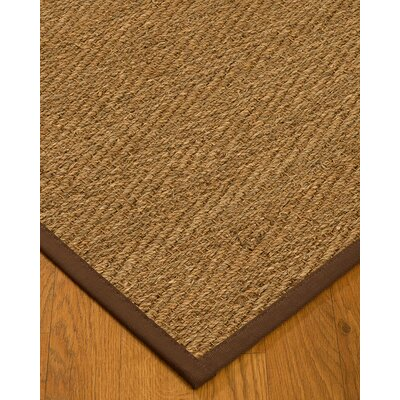 Chavarria Border Hand-Woven Beige/Brown Area Rug Rug Size: Rectangle 5 x 8, Rug Pad Included: Yes