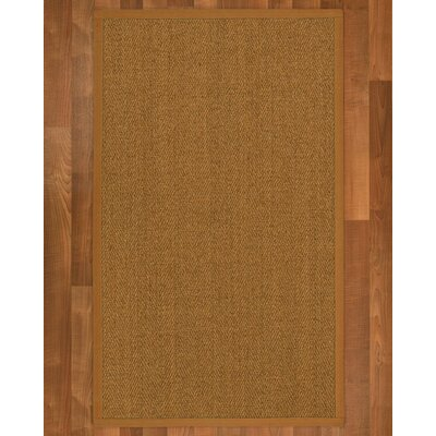 Asmund Border Hand-Woven Brown Area Rug Rug Size: Rectangle 4 x 6, Rug Pad Included: Yes