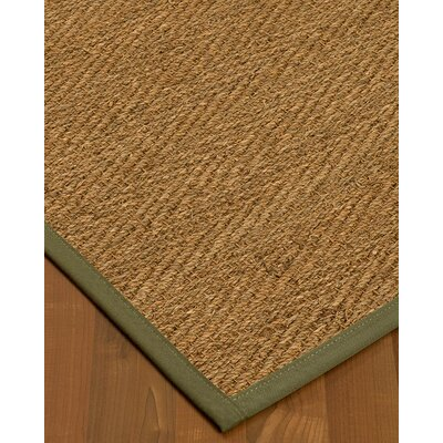 Chavarria Border Hand-Woven Beige/Fossil Area Rug Rug Size: Rectangle 5 x 8, Rug Pad Included: Yes