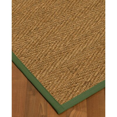 Chavarria Border Hand-Woven Beige/Green Area Rug Rug Size: Rectangle 9 x 12, Rug Pad Included: Yes