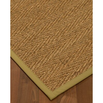Chavarria Border Hand-Woven Beige/Khaki Area Rug Rug Size: Rectangle 5 x 8, Rug Pad Included: Yes