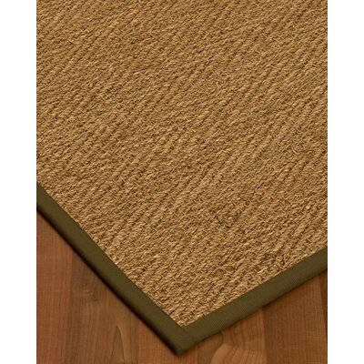 Chavarria Border Hand-Woven Beige/Malt Area Rug Rug Size: Rectangle 9 x 12, Rug Pad Included: Yes