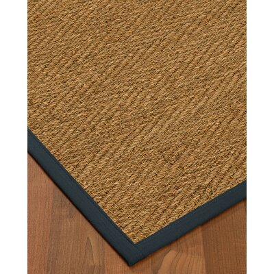 Chavarria Border Hand-Woven Beige/Marine Area Rug Rug Size: Rectangle 4 x 6, Rug Pad Included: Yes