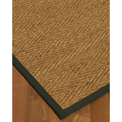 Kennett Border Hand-Woven Brown/Black Area Rug Rug Size: Rectangle 2 x 3, Rug Pad Included: No