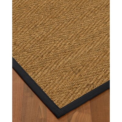 Chavarria Border Hand-Woven Beige/Midnight Blue Area Rug Rug Size: Rectangle 9 x 12, Rug Pad Included: Yes