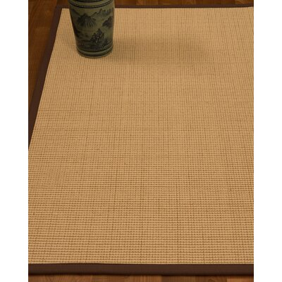 Chaves Border Hand-Woven Wool Beige/Brown Area Rug Rug Size: Rectangle 9 x 12, Rug Pad Included: Yes