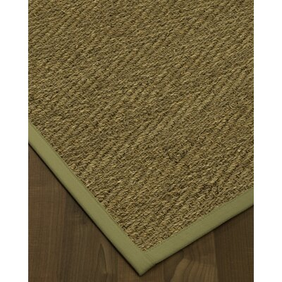 Chavarria Border Hand-Woven Beige/Natural Area Rug Rug Size: Rectangle 9 x 12, Rug Pad Included: Yes