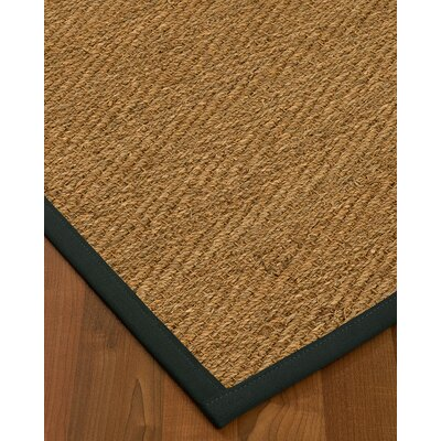 Chavarria Border Hand-Woven Beige/Onyx Area Rug Rug Size: Rectangle 5 x 8, Rug Pad Included: Yes
