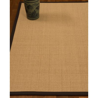 Chaves Border Hand-Woven Wool Beige/Fudge Area Rug Rug Size: Rectangle 8 x 10, Rug Pad Included: Yes
