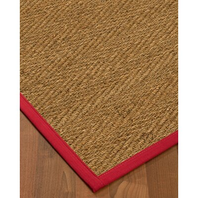 Chavarria Border Hand-Woven Beige/Red Area Rug Rug Size: Rectangle 6 x 9, Rug Pad Included: Yes