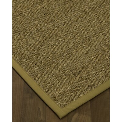 Chavarria Border Hand-Woven Beige/Sage Area Rug Rug Size: Rectangle 4 x 6, Rug Pad Included: Yes