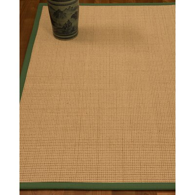 Chaves Border Hand-Woven Wool Beige/Green Area Rug Rug Size: Rectangle 9 x 12, Rug Pad Included: Yes