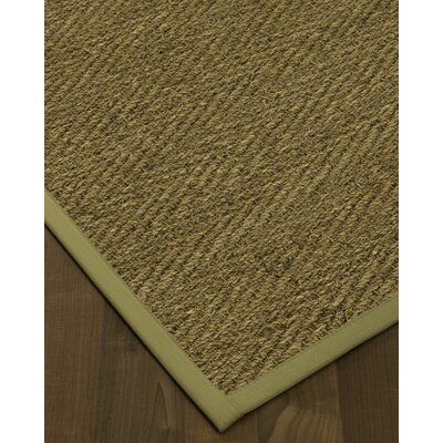 Chavarria Border Hand-Woven Beige/Sand Area Rug Rug Size: Rectangle 6 x 9, Rug Pad Included: Yes