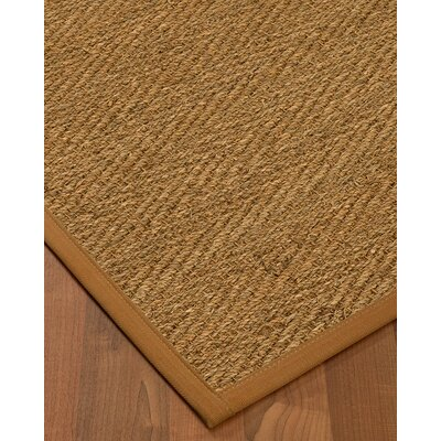 Chavarria Border Hand-Woven Beige/Sienna Area Rug Rug Size: Rectangle 4 x 6, Rug Pad Included: Yes