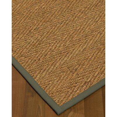 Chavarria Border Hand-Woven Beige/Stone Area Rug Rug Size: Rectangle 6 x 9, Rug Pad Included: Yes