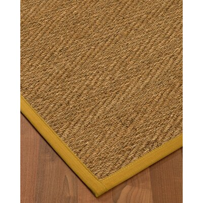 Chavarria Border Hand-Woven Beige/Tan Area Rug Rug Size: Rectangle 8 x 10, Rug Pad Included: Yes
