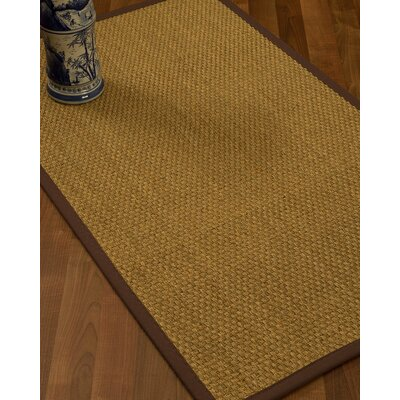 Rosabel Border Hand-Woven Beige/Brown Area Rug Rug Size: Rectangle 6 x 9, Rug Pad Included: Yes