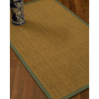 Rosabel Border Hand-Woven Beige/Fossil Area Rug Rug Size: Runner 26 x 8, Rug Pad Included: No